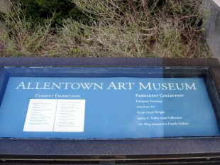 Downtown Allentown Art Museum Outside Sign- (medium sized photo)