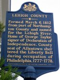 Downtown George Taylor Home Lehigh County Sign